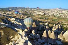 Hot-air ballooning in Cappadocia, Turkey