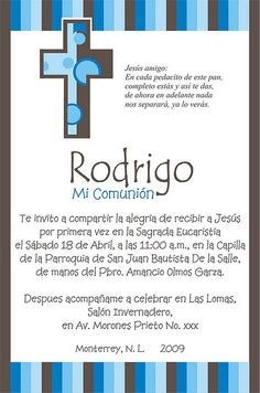 Invitacion Comunion Rodrigo by susy_quiroga, via Flickr