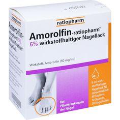 AMOROLFIN ratiopharm 5 prozent wirkstoffhalt.Nagellack:   Packungsinhalt: 5 ml Wirkstoffhaltiger Nagellack PZN: 09199196 Hersteller:…