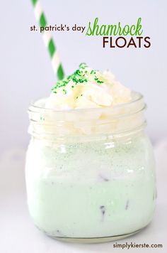 Minty and delicious, Shamrock Floats are super easy to make (for two, or for a crowd), and perfect for St. Patrick's Day! Or anytime. :)