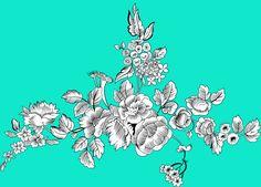 Black And White Flowers, Black Leaves, Black White, Textile Design, Stencils, Digital Prints, Abstract, Print Design, Fabric