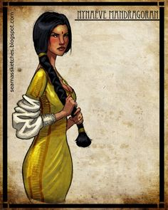 A lot of the female characters in wheel of time actually got on my nerves the first couple of books, but Nyaneve was one of the good ones. :)