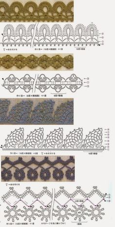 Crochet Borders - Crochet Edging Patterns Do you ever find yourself with a finished project, but it just doesn't look complete? Maybe you need to add crochet edging to complete your pattern! Crochet Boarders, Crochet Lace Edging, Crochet Motifs, Crochet Diagram, Crochet Stitches Patterns, Crochet Chart, Crochet Trim, Love Crochet, Diy Crochet