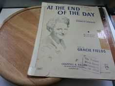 At the end of the day, Donald O'Keefe, Gracie Fields Featured, 1951 music sheet by LaMaidenenNoire on Etsy