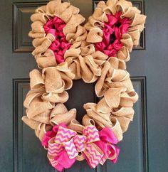 Burlap Bunny Wreath. $58.00, via Etsy.
