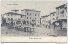#throwbackthursday Once it was called Piazza Re Umberto: today is Piazza Matteotti, one of the most important squares of Greve in Chianti.