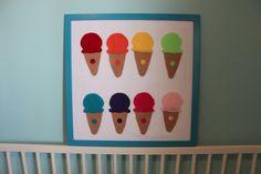 Easy & Inexpensive DIY Felt Board {& a Fun Ice Cream Colour Matching Game} | Mama.Papa.Bubba.