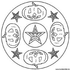 kleurplaten halloween mandala