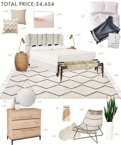 Budget Room Design: Boho Eclectic Bedroom