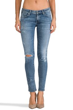 Citizens of Humanity Premium Vintage Racer Distressed Skinny Jeans in Crosby