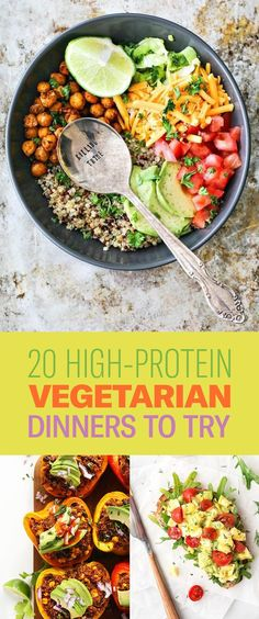 Protein-Packed Dinners With No Meat Whether you're vegetarian, vegan, or just want to save a few bucks on your next grocery bill.Whether you're vegetarian, vegan, or just want to save a few bucks on your next grocery bill. Vegetarian Dinners, Vegetarian Cooking, High Protien Vegetarian Meals, Quick Vegetarian Dinner, Vegetarian Italian, Vegetarian Lifestyle, Vegetarian Recipes No Beans, Vegetarian Options, Easy Vegitarian Dinner Recipes