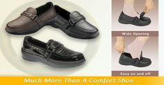 """""""My Chelsea slip on crocs are the most comfortable shoes I have bought in years. I have two very different size feet (5 and 7) Extra inserts & double velcro adjustments make them fit perfectly on each foot, Love them!"""" -Loretta Merl   Orthofeet comfort system with Easy Slip-On design offers a non-binding fit, extra room for toe movement, and maximum protection against pressure points. The anatomical orthotic insole and ergonomic sole offer precise support and excellent cushioning, making…"""