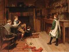 """""""Afternoon pastimes"""" by Harry Brooker, British 1848-1940"""