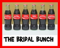 Personalized Coca Cola for Bridal Party. Bride by InNonnasKitchen Wedding Reception Favors, Elegant Wedding Favors, Wedding Favor Boxes, Wedding Events, Weddings, Wedding Ideas, Wedding Bells, Wedding Details, Rehearsal Dinner Fun