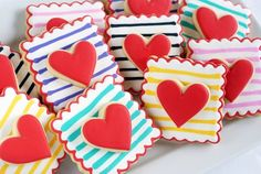 Bake at 350: tutorial for Double-decker, Stripey, Valentine Cookies