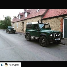 Land Rover 86 Serie One soft top and Land Rover Defender 90 Td5 Sw Se County. Nice Bro!