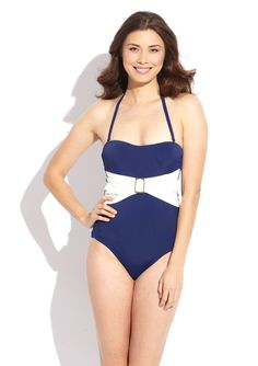 SPANX  Belted Bandeau One-Piece