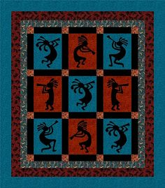 southwestern quilting designs | Kokopelli Full Quilt Kit patterns