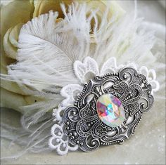CRYSTAL VISIONS Victorian fantasy bridal by TheVictorianGarden, $37.00