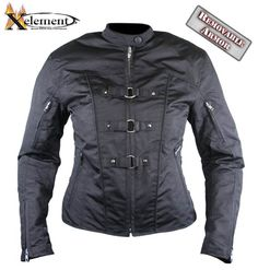 Xelement Womens Removable Armor Black Tri-Tex Fabric Motorcycle Jacket http://www.leatherup.com/p/Womens-Motorcycle-Jackets/Xelement-Womens-Removable-Armor-Black-Tri-Tex-Fabric-Motorcycle-Jacket/53612.html