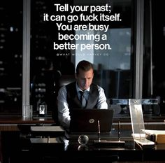 badass quotes harvey specter quotes are just awesome Great Quotes, Quotes To Live By, Me Quotes, Motivational Quotes, Inspirational Quotes, Past Quotes, Harvey Donna, Citations Sport, Harvey Specter Quotes