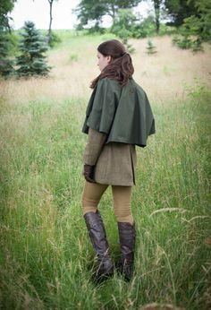 The versatile John Field rain shoulder cape
