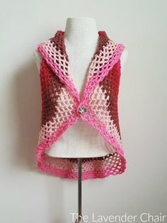 Pocket Full of Posies Circular Vest Crochet Pattern - The Lavender Chair