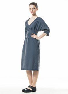 Grey kimono-type dress