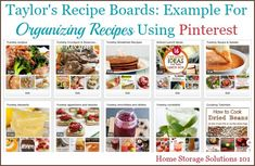 Here are tips and tricks for organizing recipes on Pinterest, so you can always find the recipes you're looking for on your boards {on Home Storage Solutions 101}