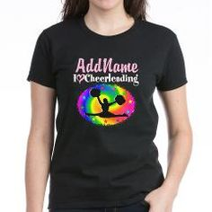 Personalized I Love Cheerleading design. Cool and colorful Cheerleading and Cheerleading Tees, Apparel, and Gifts at www.cafpress.com/SportsStar #Ilovecheerleading