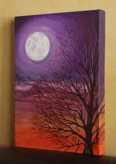 Moon over canvas