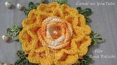 """Flor Monalisa #Coleção """"Minhas flores em Crochê"""" - YouTube"""