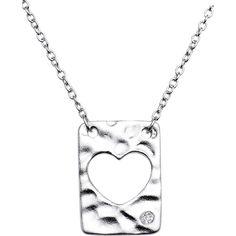 Sterling Silver .015pt Diamond Heart Necklace