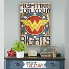 Wonder Woman Art Print -Comic Art, Vintage, Home, Wall Decor -Superhero, Children, Men, Women-Red, White, Blue, Yellow, Black, Brown by GeekGirlsCollective on Etsy https://www.etsy.com/listing/245567303/wonder-woman-art-print-comic-art-vintage