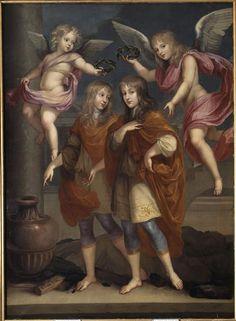 Portraits présumés de louis XIV et de Philippe de France, duc d'Anjou  Versailles, châteaux de Versailles et de Trianon (I absolutely disagree on this one)