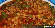 Mexikói chilis zöldbab és csicseriborsó recept képpel. Hozzávalók és az elkészítés részletes leírása. A mexikói chilis zöldbab és csicseriborsó elkészítési ideje: 60 perc Bologna, Chana Masala, Paella, Chili, Beans, Vegetables, Ethnic Recipes, Food, Chile