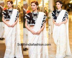 Mahira Khan looks elegant in a white saree!