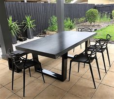 Charcoal, natural or two tone finish, polished concrete 2.1m x 1.1m x 75mm top. This table has a unique concrete finished surface and will have a polished top, finished with a satin sealer. This table without the bench seat is $2300. Were happy to do custom sizes or colours, please