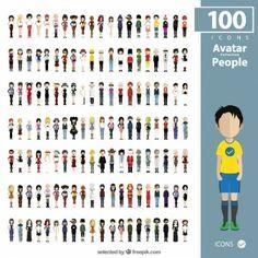 Colección avatares de gente