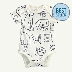 07fb955d137 Must-have short sleeve bodysuit for a comfy baby all day, everyday. 100