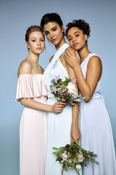Pastel multiway dress is perfect for showing off the individual style of your bridesmaids