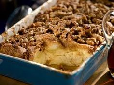 Paula Deen's Breakfast French Toast Casserole. I think this is what Adam and Eve were tempted with by the snake, none of this apple B.S.