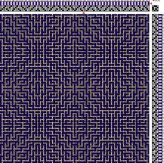 Weaving Draft for Color and Weave overshot looking effect