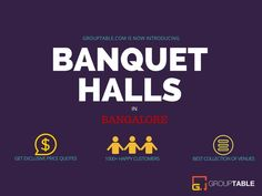 When it comes to celebrations like marriage, birthdays, anniversaries etc... Bangalore's got to be the most bustling place! You will find an endless list of exquisite banquet halls each sporting  unique ambience, amenities and of course, budget! So, there's something for everyone looking for a  banquet hall in Bangalore. Let's take you on a ride to exotic banquet halls in Namma Bengaluru!! Banquet Halls are proliferated all across the city each exhibiting unique features and rates.