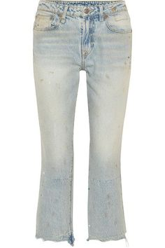R13 | Kick Fit cropped distressed mid-rise flared jeans | NET-A-PORTER.COM