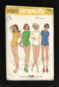 1972 Simplicity 5023 Bodysuits for the Retro Look by MrsWooster, $5.00