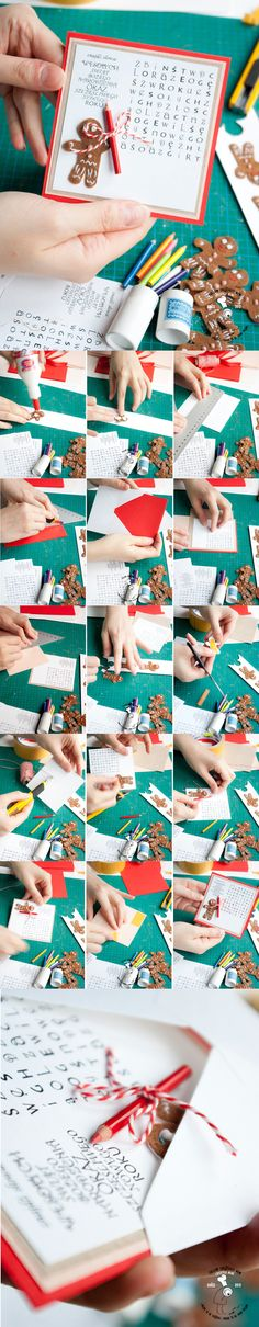 DIY Christmas card with the Gingerbread Man from Shrek with a clever riddle