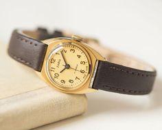 Small women's watch Dawn gold plated ladies watch by SovietEra