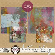 Autumn Whispers {Paper Templates}