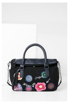 2016 Azul Desigual Discover Bag Winter The Blue Fall Embroidered Collection Bolso Navy wqTp8f